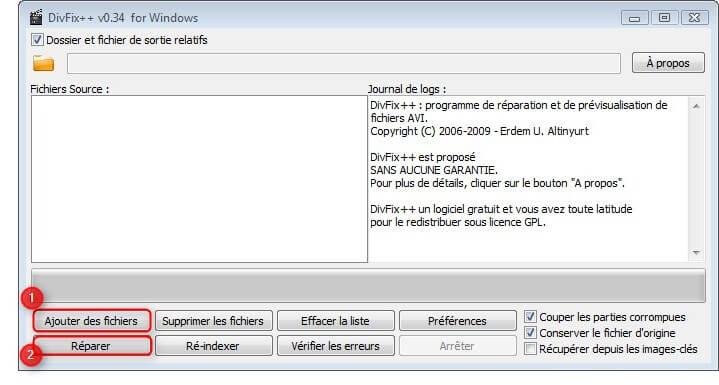 comment reparer definitivement un fichier vlc