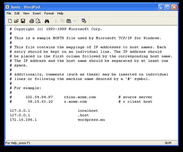 Windows Hosts-Datei