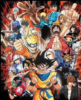 manga anime dbz naruto one piece