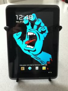 Spider-Tablette-1-e1359295385501-225x300 Review / Test : Support universel pour tablette - Spider Podium