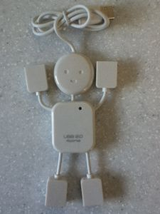 Smiling Man with 4 USB