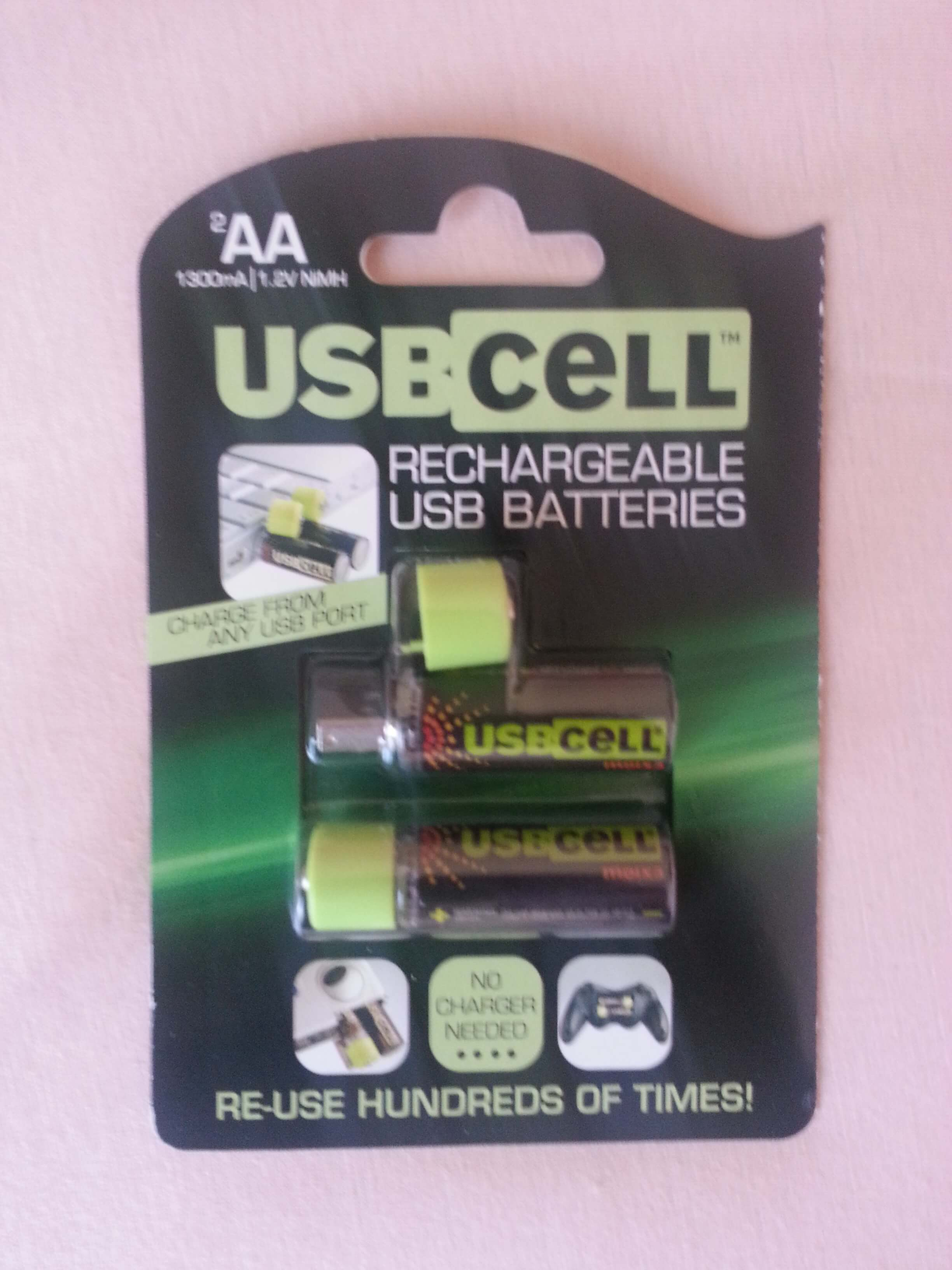 pile rechargeable usbcell AAA