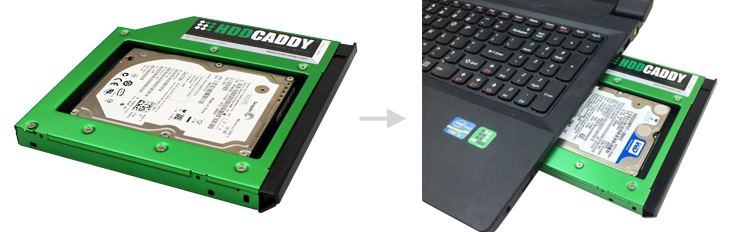 hdd caddy pc portable la caverne de pandoon. Black Bedroom Furniture Sets. Home Design Ideas