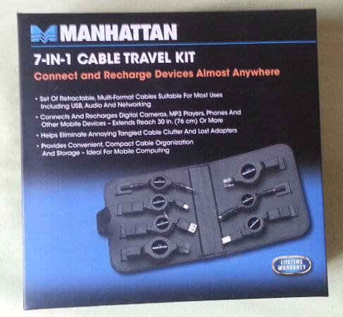 Manhattan-kit-7-en-1-cables Review / Test : Manhattan, test de 2 kits de transport: câbles USB 7 en 1 et valise de technicien