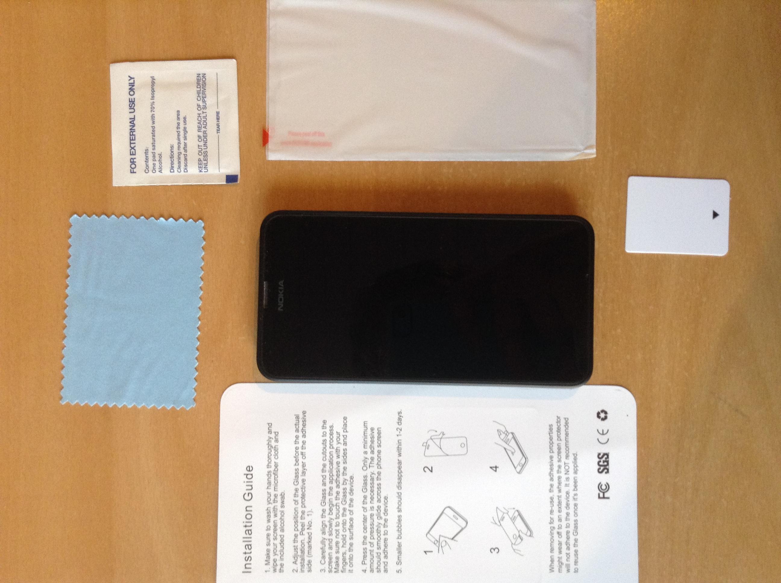 IMG_2475 Review / Test : Protection d'écran en verre trempé pour Nokia Lumia 630/635