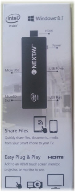 nextav-pc-100-stick-hdmi-windows-usb Review / Test : Nextav Stick Windows 8.1 TV - Intel - 2GB Ram - 32GB - HDMI (NX-PC100)