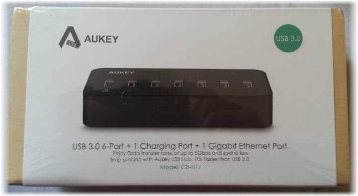test review aukey cb h17 hub en usb 3 0 7ports usb 1 ethernet. Black Bedroom Furniture Sets. Home Design Ideas