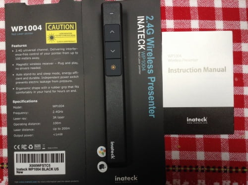 Inateck laser pointer and remote control