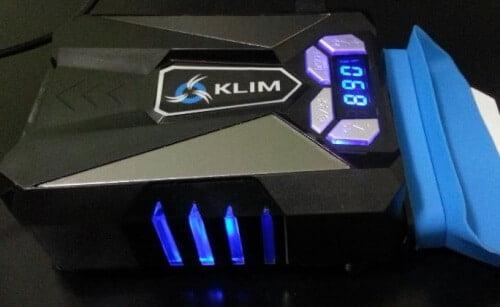 extracteur-bleu-500x307 Test / Review: Refroidisseur par extraction d'air KLIM COOL, pour pc portable