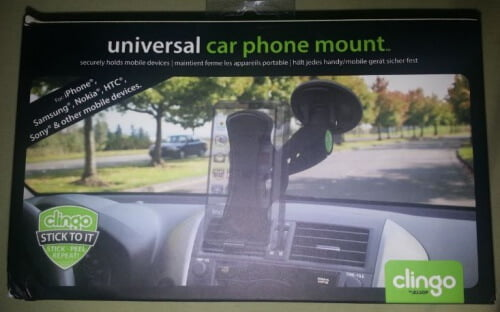 black clingo universal car phone mount