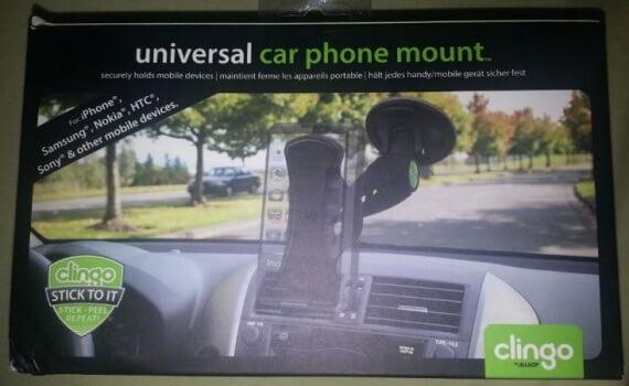 black clingo universal car phone mount