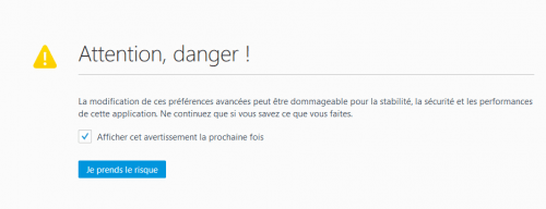 firefox config attention danger