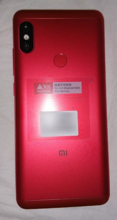 Xiaomi Redmi Note 5 rouge arrière
