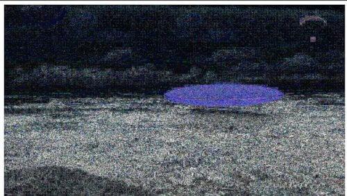blue flying saucer