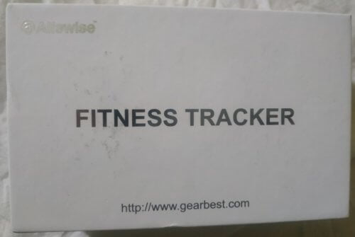 white fitness tracker