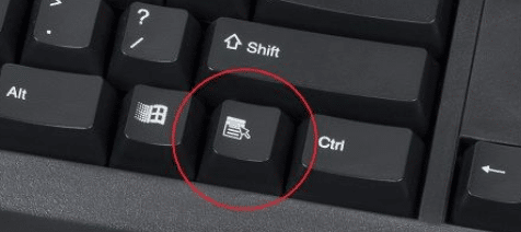 keyboard button menu option