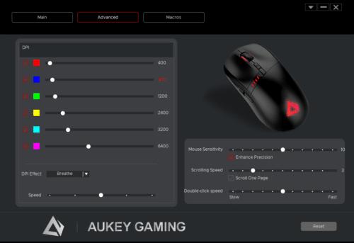 aukey gm-F5 couleurs lumières
