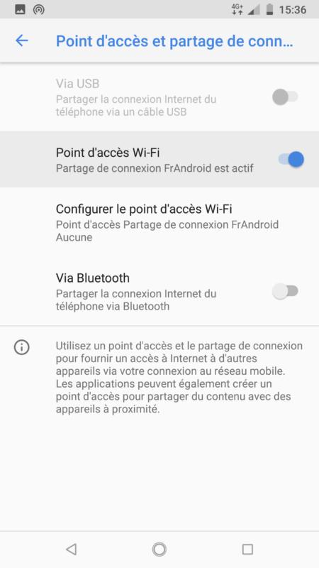 partage connexion smartphone